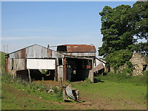 NY9837 : Shield Ash - modern outbuildings by Mike Quinn