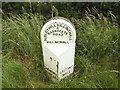 SE2754 : Milestone on Oaker Bank by Stephen Craven