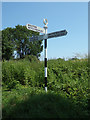 TG1321 : Signpost on Cawston Road by Adrian Cable