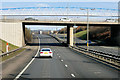 NT1272 : M9 Motorway at Newbridge Roundabout by David Dixon