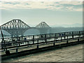 NT1379 : View of the Forth Bridge from the Road Bridge by David Dixon