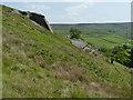 SD9439 : Rocks below Foster's Leap by Stephen Craven