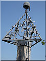 TG1318 : Swannington Village sign by Adrian Cable