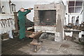SK3156 : Cromford and High Peak Railway workshops - forge by Chris Allen