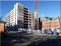 NZ2465 : Car park under construction, Royal Victoria Infirmary, Newcastle upon Tyne by Graham Robson