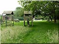 SK6548 : Children's play area at the Cross Keys, Epperstone by Alan Murray-Rust