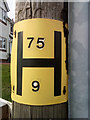 SH7978 : Hydrant sign on telephone pole, Llandudno Junction by Meirion