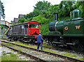 SO6107 : Dean Forest Railway - manoeuvres at Parkend by Chris Allen