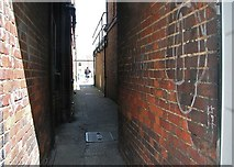 TG2309 : Passage linking Magdalen Street and a car park at Abel's Yard by Evelyn Simak
