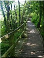 SK3272 : The boardwalk at Linacre Upper Reservoir by Graham Hogg
