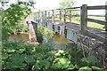 SD9988 : Harper Wath footbridge over River Ure by Roger Templeman