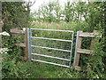 NZ2975 : Gate Near Holy Trinity Church, Seghill by Geoff Holland