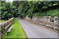 NY9650 : Wall beside road heading for Shildon by Trevor Littlewood