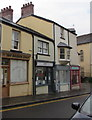 SO2508 : Two temporarily closed barber shops, Broad Street, Blaenavon by Jaggery