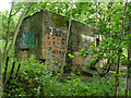 SE2839 : Remains of the toilet block in Adel Woods by Stephen Craven