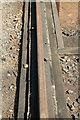 SU5291 : Didcot Railway Centre - bridge rail by Chris Allen