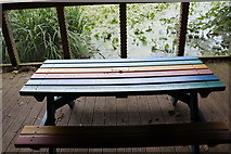 NS2209 : Memorial Table in the Boathouse, Swan Pond Culzean by Billy McCrorie