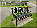 SE2639 : Lawnswood cemetery: war memorial bench by Stephen Craven