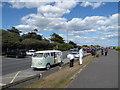 TQ0301 : Splendid old VW Camper van in Sea Road by Basher Eyre