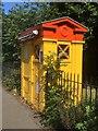 NT2572 : Police box, Melville Drive by Richard Webb