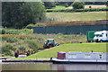SO2216 : Boat trailer at Heron's Rest Marina by M J Roscoe