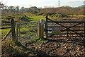 SX8377 : Gates, Chudleigh Knighton Heath nature reserve by Derek Harper