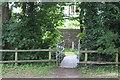 SO2117 : Footbridge over Nant Onneu to rear of Owen's Row by M J Roscoe