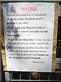 SU8699 : Notice on Gate by Stoney Green Farm (3) by David Hillas
