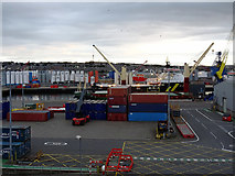 NJ9505 : Dockside containers by John Lucas