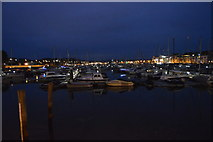 SY6778 : Weymouth Marina at night by N Chadwick