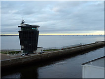 NJ9505 : The Marine Operations Centre and the North Breakwater by John Lucas