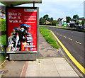 ST3091 : British Red Cross advert, Malpas, Newport by Jaggery