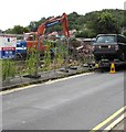 ST3090 : Orange excavator, Pillmawr Road, Malpas, Newport by Jaggery