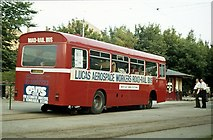 SK3455 : Road-rail bus at Crich, 1980 – 6 by Alan Murray-Rust