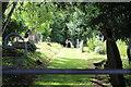 SO2314 : Path to St Elli's Church, Llanelly by M J Roscoe