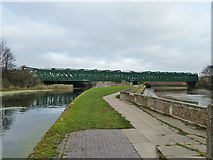 TQ3882 : Railway bridges over Lee Navigation and Bow Creek by Robin Webster