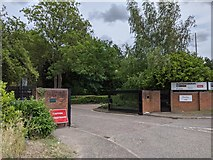 TQ5571 : Entrance to Hawley Mill (commercial/industrial estate) by Paul Williams