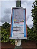 TQ5571 : Bus stop timetable case, Hawley Road (Shirehall Road bus stop) by Paul Williams