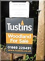 SU8799 : Woodland for Sale Notice by Lawrence Grove Wood by David Hillas