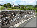 NY6758 : Harpertown Bridge parapet by Adrian Taylor