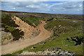 NZ0104 : Track above Windegg Vein by Andy Waddington