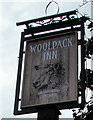 SO8005 : Woolpack Inn name sign, Stonehouse by Jaggery