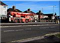 ST3090 : Orange mobile crane, Malpas, Newport by Jaggery
