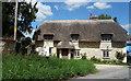 SU2483 : Thatched House in Bishopstone by Des Blenkinsopp