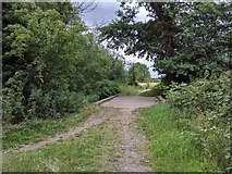 TQ5571 : Footpath bridge over River Darent by Paul Williams