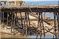 ST3062 : Detail of Birnbeck Pier: Recently repaired trestle by Oliver Mills