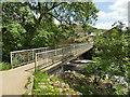 SD8163 : Giggleswick memorial footbridge by Stephen Craven