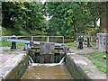 SJ6541 : Audlem Top Lock in Cheshire by Roger  Kidd
