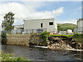 SD8163 : Bank erosion, river Ribble in Settle by Stephen Craven