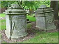SO6943 : Chest tombs in Bosbury churchyard by Philip Halling